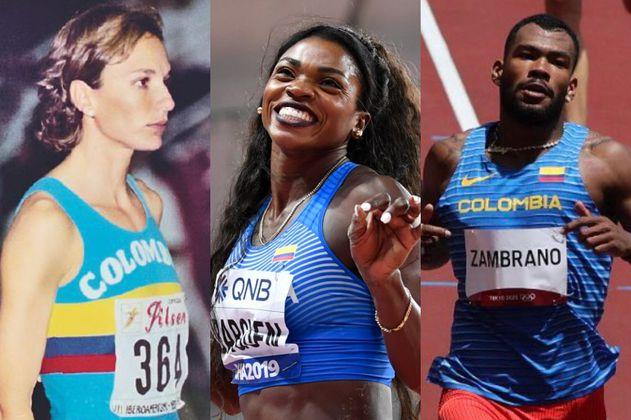 Las cuatro medallas olímpicas del atletismo colombiano