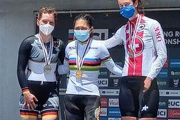 Carolina Munevar, campeona contrarreloj en el Mundial de Paracycling