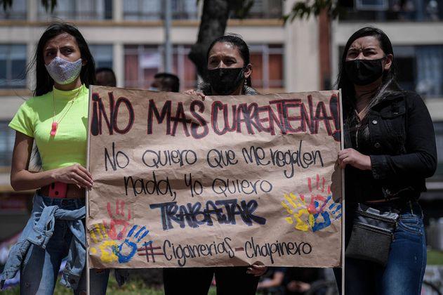 Persisten los bloqueos viales por protestas de comerciantes en Suba y Fontibón