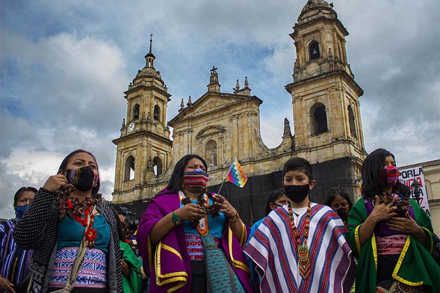 El legado de la guardia indígena en las protestas de Bogotá