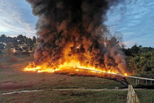 Atentado contra oleoducto Cira Infantas refinería de Barrancabermeja