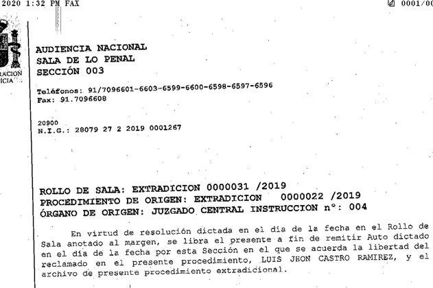 """España aprobó la extradición de """"El Zarco"""", reclutador de falsos positivos"""